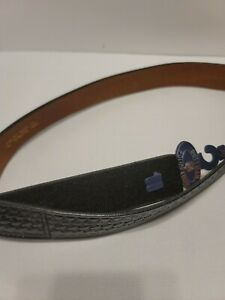 Dutyman Leather Buckle less 1321 Black Duty Belt 36 38 New With Tags