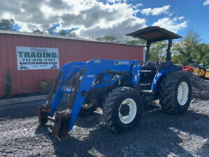 2006 New Holland Tn95a 4x4 95hp Utility Tractor W Loader Only 1500hrs
