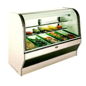 72 Inch Double Duty Curved Glass Meat And Deli Case S c By Marc Refrigeration