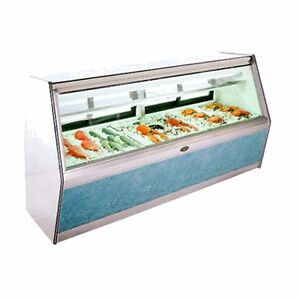 Marc Refrigeration 6 Double Duty Fish Display Case Lighted Shelf Remote