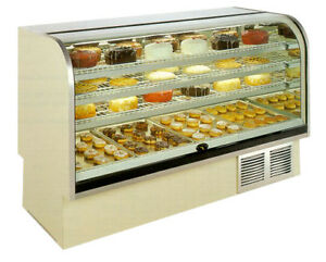 Marc Refrigeration 59 Dry High Volume Bakery Case Curved Glass Bcd 59