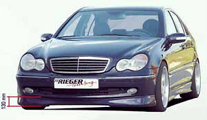 Mercedes Genuine Rieger Avant Garde W203 C Class Sedan Front Spoiler Lip