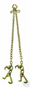Chain V bridle W Rjt Hook F Tow Dolly Wrecker Truck Rollback Sling Tie Down