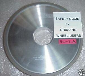 norton Diamond Wheel 8 X 3 4 X 2 For Cnc Tool Grinder Sharpener