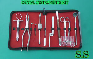Dental Instruments Kit 10 Pc Crown Remover Syringe