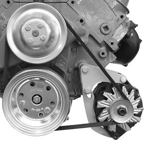 Big Block Chevy Swp Low Mount 208l Alternator Bracket