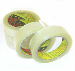 72 Rolls 3m Scotch Sellotape 25mm X 66m Clear Packing Tape