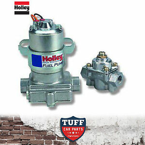 Holley Blue 110 Gph Electric Fuel Pump With Fuel Pressure Regulator 12 802 1 New