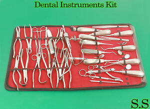 Dental Set Elevators Pliers Whitehead Syringe Mirrors Dn 584