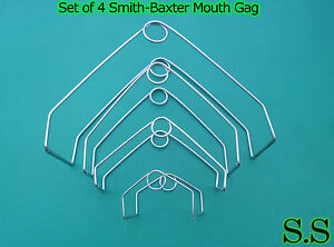 Set Of 4 Smith baxter Mouth Gag Veterinary Instruments
