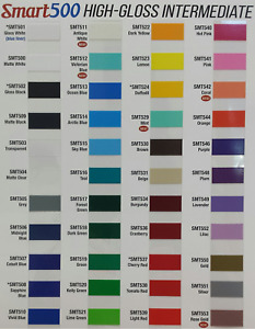 24 X 50yd Smt500 Hi Gloss 6 Yr Outdoor Sign Vinyl Film Craft Hobby Roll Colors