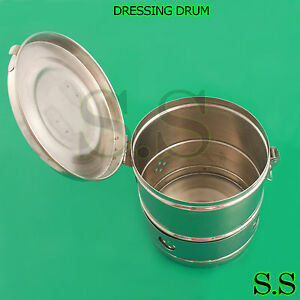 Dressing Drum 9 x9 Surgical Veterinary Instruments