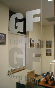 24 X 50yd Deep Glass Etch 6 Yr Sign Vinyl Film