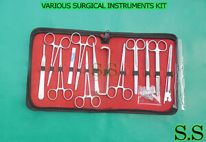 24 Various Surgical Instruments Kit For Minor Surgery