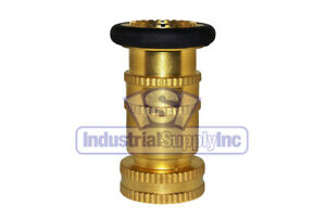 Fire Hose Nozzle With Bumper 1 1 2 National Pipe Thread npt Brass