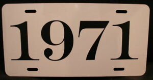 1971 License Plate Fits Cuda Challenger Chevelle Ss Gto