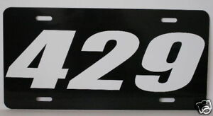429 Engine Size License Plate Fits Ford Cobra Jet Mach