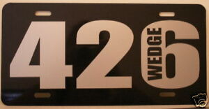 Mopar 426 Wedge License Plate Fits Dodge Plymouth Max
