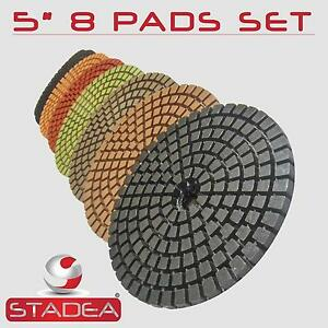 5 Diamond Polishing Pads Marble Concrete Granite 8 Pcs