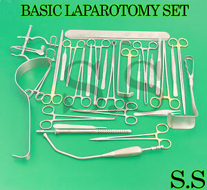 Basic Laparotomy Set 104 Pcs Surgical Instruments Surgery Medical Abdomi Ds 1120