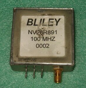 Bliley 100 Mhz Voltage Controll Crystal Oscillator Ocxo Nv26r891