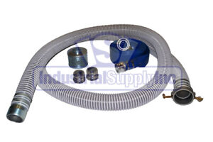 2 Complete Trash Pump Water Suction Discharge Hose Kit