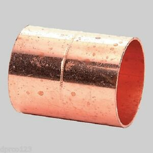 2 Copper Coupling W stop fits 2 1 8 Od Pipes Copper Pipe Connector