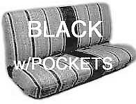 Truck Bench Seat Cover Saddle Blanket Black 1pc All Full Size Ford Chevy Dodge