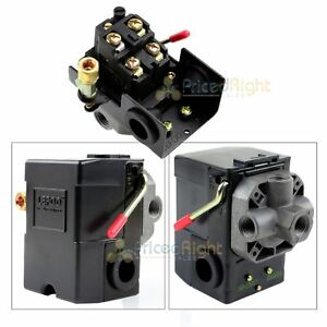 Four Port Air Compressor Pressure Switch Control Valve 145 175 Psi W Unloader