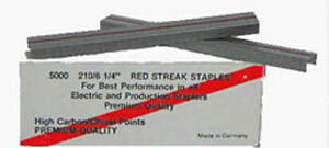 20000 Red Streak W102 3 Staples For Lassco W106 Stapler