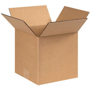 100 8x8x8 Shipping Boxes Corrugated Cardboard Cartons
