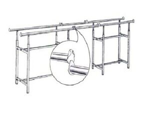 H Rack 60 Extension Bars To Connect Two Rack New Pair