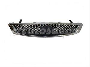 For 2005 2007 Ford Focus W o Appearance Package Grille Black With Chrome Frame