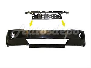 For 05 07 Jeep Grand Cherokee Front Bumper Cover Black Bracket W o Molding Hole