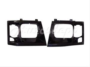 For 94 93 92 91 90 Chevy Astro Safari Headlamp Door Blk Set