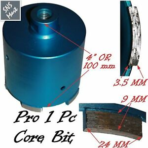 4 102mm Pro Diamond Core Bit Hole Saw Granite Marble