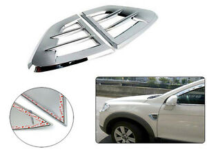 Exterior Chrome Side Vent Garnish Moldings Cover For 2008 2011 Chevy Captiva