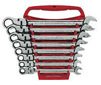 Kd 9701 8pc Flex Head Combination Ratcheting Wrench Set