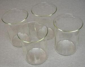 Pyrex type Beaker four pack 2000 Ml 7 5 8 Tall