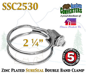 Ssc2530 2 25 2 1 4 Sureseal Heavy Duty Zinc Plated Double Band Exhaust Clamp
