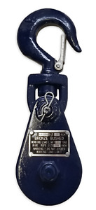 2 Ton Snatch Block W Swivel Hook Wire Rope Sheave Tow Shackle Clevis Tree Sling