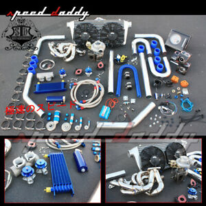 Bmw E30 84 91 I6 6cyl 3 series T3 t4 Turbo Charger manifold intercooler Full Kit