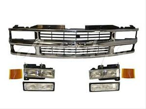 For 95 99 Tahoe Blazer Suburban Grille Headlight Park 7pc