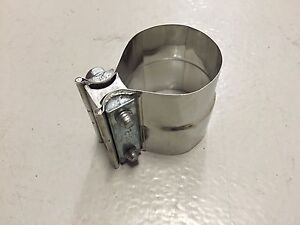 2 5 Torctite Stainless Exhaust Lap Joint Step Clamp 2 5 Od To 2 50 Id Band