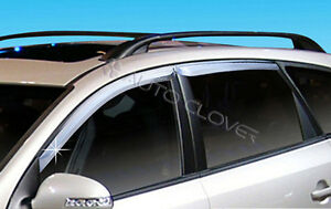 Chrome Window Visors Vent 4p For 2008 2010 Hyundai I30cw