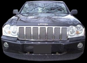 Chrome Mesh Grille Grill For 05 06 07 Jeep Grand Cherokee
