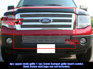 Fits Ford Expedition Billet Grille Grill Combo 2007 2014