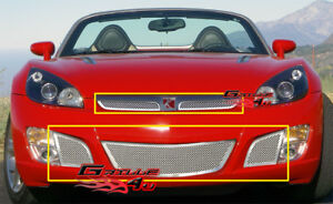 Fits Saturn Sky Red Line Stainless Mesh Grille Combo 07 09