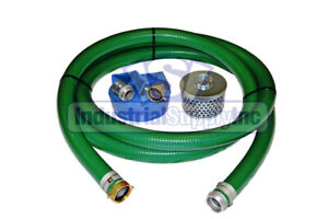 2 Trash Pump Hose Pvc Water Suction Discharge W pinlug