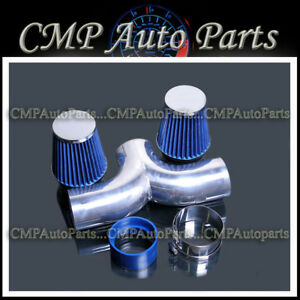 Blue 1997 2000 Chevy Corvette C5 5 7l V8 Dual Twin Air Intake Systems